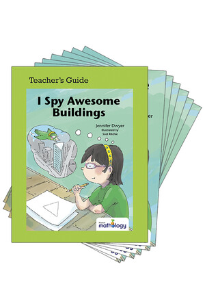 Mathology Little Books - Geometry: I Spy Awesome Buildings (6 Pack with Teacher's Guide)