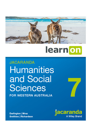 Humanities and Social Sciences 7 for WA - Student learnON (Digital Access Only)