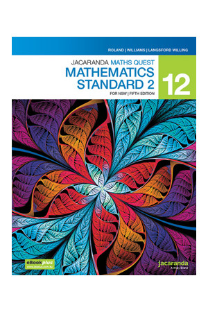 Jacaranda Maths Quest 12 Mathematics Standard 2 for NSW 5e eBookPLUS + Print