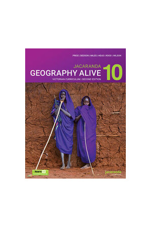 Jacaranda Geography Alive 10 for the Victorian Curriculum - 2nd Edition (learnON & Print)