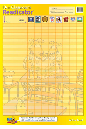 Our Classroom Readicator A2 Chart - Yellow
