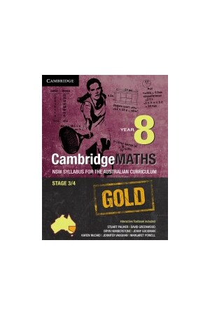CambridgeMATHS GOLD - NSW Syllabus for the AC: Year 8 - Student Book + HOTmaths (Print & Digital)