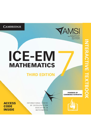 ICE-EM Mathematics for the Australian Curriculum - Third Edition: Year 7 + HOTmaths (Digital Access Only)