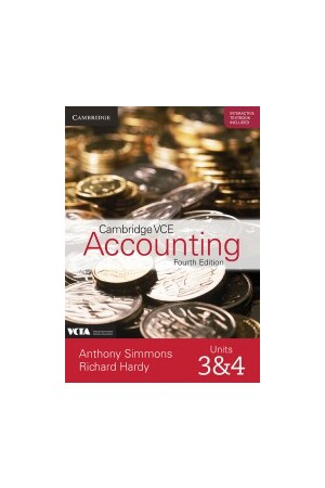 Cambridge VCE Accounting Units 3&4 Fourth Edition Teacher Resource Package