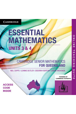 Cambridge Senior Mathematics QLD - Essential Mathematics (Units 3&4): Online Teaching Suite (Digital Access Only)