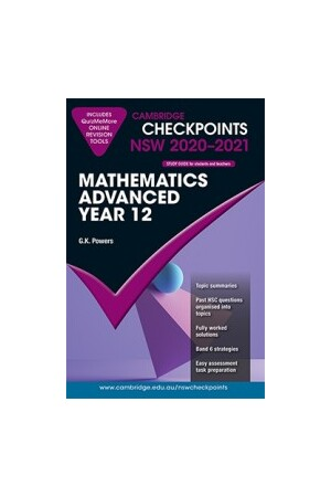 Cambridge Checkpoints NSW - Mathematics Advanced: Year 12 (2020-2021)