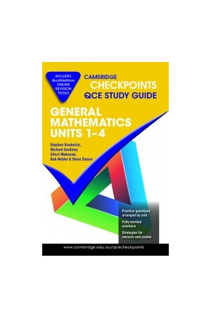 Cambridge Checkpoints QCE - General Mathematics: Units 1 -4