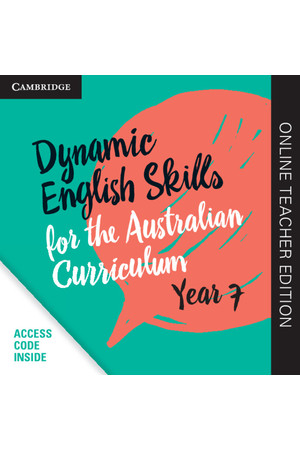 Dynamic English Skills for the AC - Year 7: Teacher Edition (Digital Access Only)