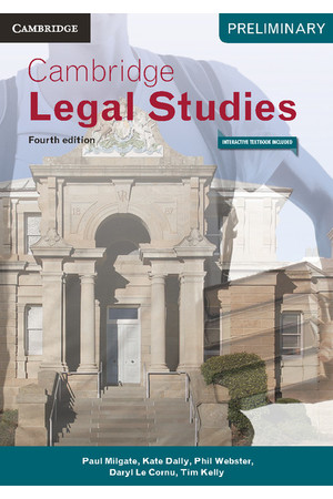 Cambridge Preliminary - Legal Studies (4th Edition): Student Book (Print & Digital)