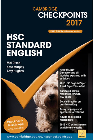 Cambridge Checkpoints HSC - Standard English (2017)