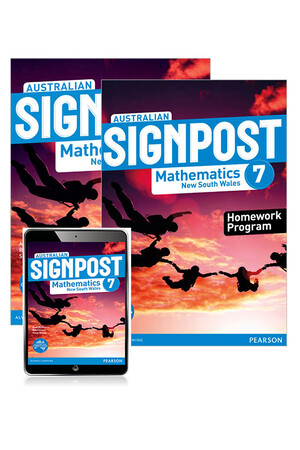 Australian Signpost Maths NSW - Year 7: Combo Pack - Student Book, eBook and Homework Program (Print & Digital)