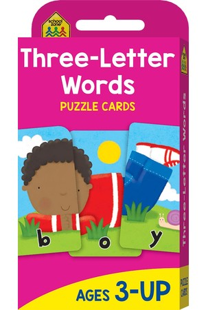 Three-Letter Words Puzzle Cards