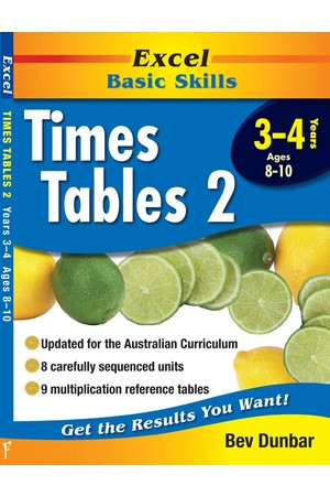 Excel Basic Skills - Times Tables 2: Years 3-4