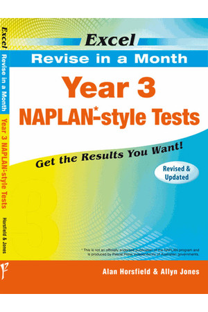 Excel - Revise in a Month - NAPLAN*-style Test: Year 3