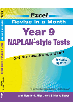 Excel - Revise in a Month - NAPLAN*-style Test: Year 9