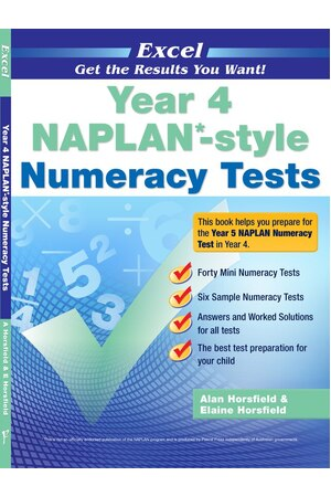Excel NAPLAN* Style Numeracy Tests - Year 4