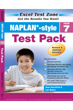 Excel Test Zone - NAPLAN*-style Test Pack: Year 7