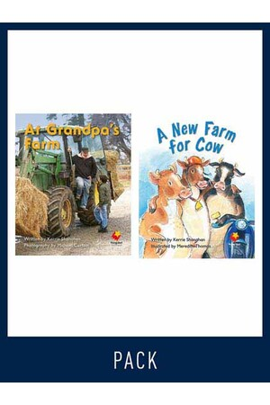 Flying Start to Literacy: Guided Reading - At Grandpa's Farm & A New Farm for Cow - Level 4 (Pack 5)