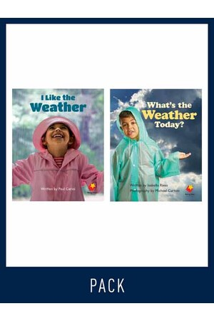 Flying Start to Literacy: Guided Reading - I Like the Weather & What's the Weather Today? - Level 2 (Pack 3)