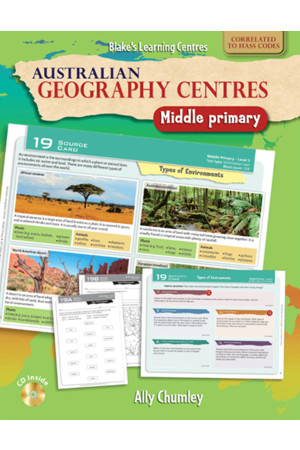 Blake's Learning Centres - Australian Geography Centres: Middle Primary