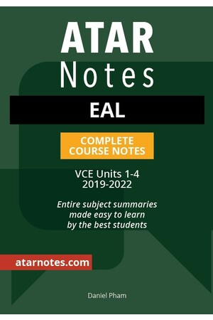 ATAR Notes VCE English as an Additional Language 1- 4 Notes