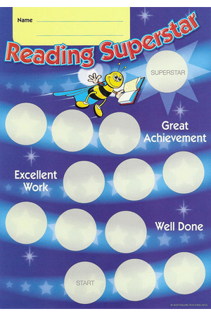 Reading Superstar Achievement Cards