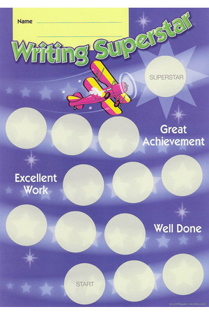 Writing Superstar Achievement Cards