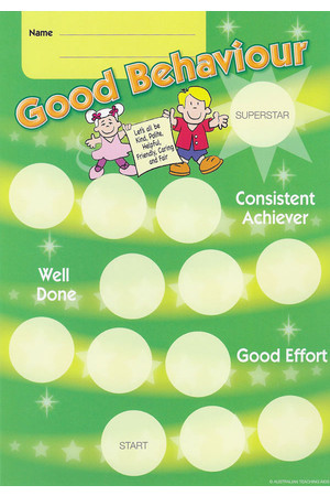 Good Behaviour Achievement Cards