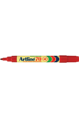 Artline Markers 70 - Permanent 1.5mm (Bullet Nib): Red (Box of 12)