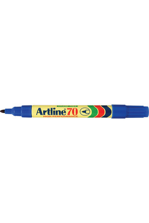Artline Markers 70 - Permanent 1.5mm (Bullet Nib): Blue (Box of 12)