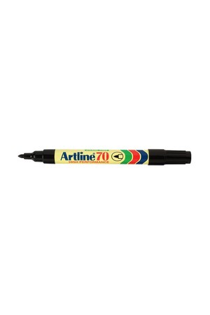 Artline Markers 70 - 1.5mm Permanent (Bullet Nib): Black (Pack of 2)
