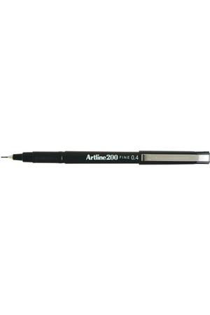 Artline Pen 200 - 0.4mm Fineline: Black (Single)