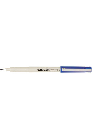 Artline Markers 210 (Medium) - Blue 0.6mm (Box of 12)