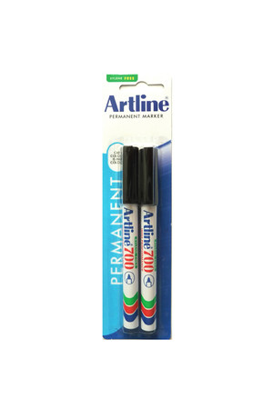 Artline Markers 700 - 0.7mm Permanent (Bullet Nib): Black (Pack of 2)