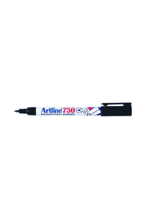 Artline Markers - Laundry 750: Black (Box of 12)