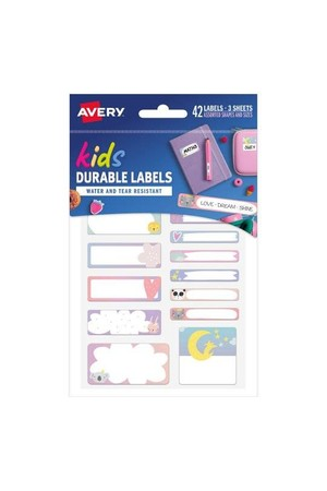 Avery Name Labels - School Multipack (Love Dream Shine): 42 Labels