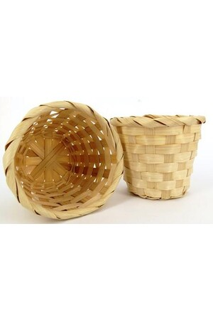 Bamboo Basket - Round Natural: Pack of 4