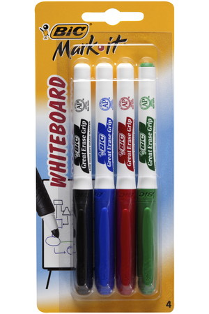 Bic Whiteboard Markers - Mark-It (Bullet Tip): Assorted (Pack of 4)