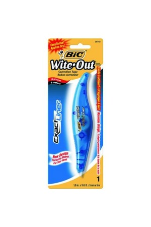 Bic Correction Tape - Wite-Out Exact Liner: 5mmx6m (Pack of 6)