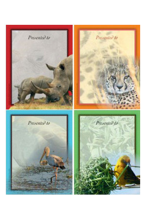 African Safari Bookplates - Small Bookplates