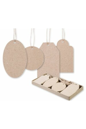 Papier Mache - Tags (Pack of 40)