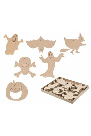 Papier Mache - Halloween Shapes (Pack of 60)