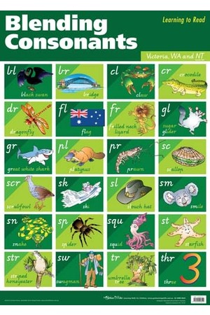Blending Consonants Wall Chart - VIC/WA/NT
