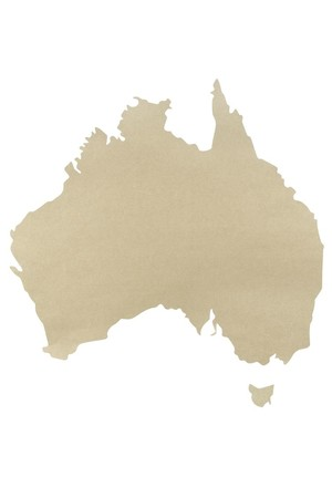 Cardboard Australia Map - Large (Pack of 10)