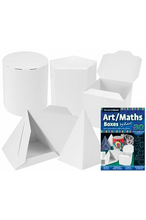 Cardboard Art/Maths Boxes - Pack of 30
