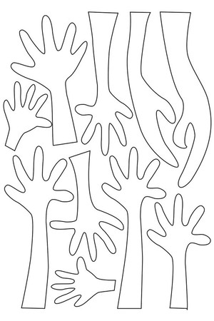 Cardboard Hands - Pack of 100