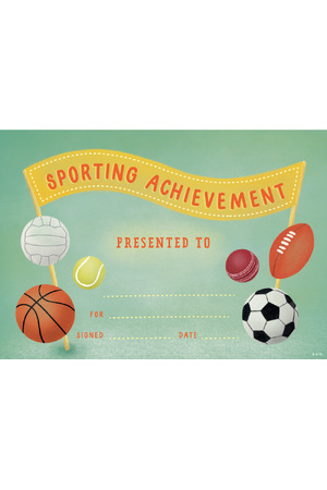 Great Achievement Sport Certificate - Pack of 200