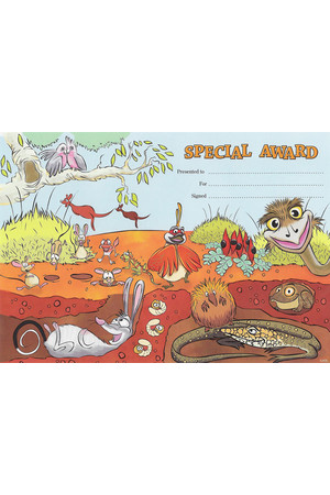 Special Award Desert Merit Certificate - Pack of 35