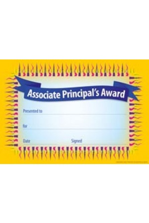 Associate Principal's Award Certificate - Pack of 35