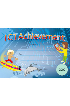 ICT Achievement Award Merit Certificate  - Pack of 200